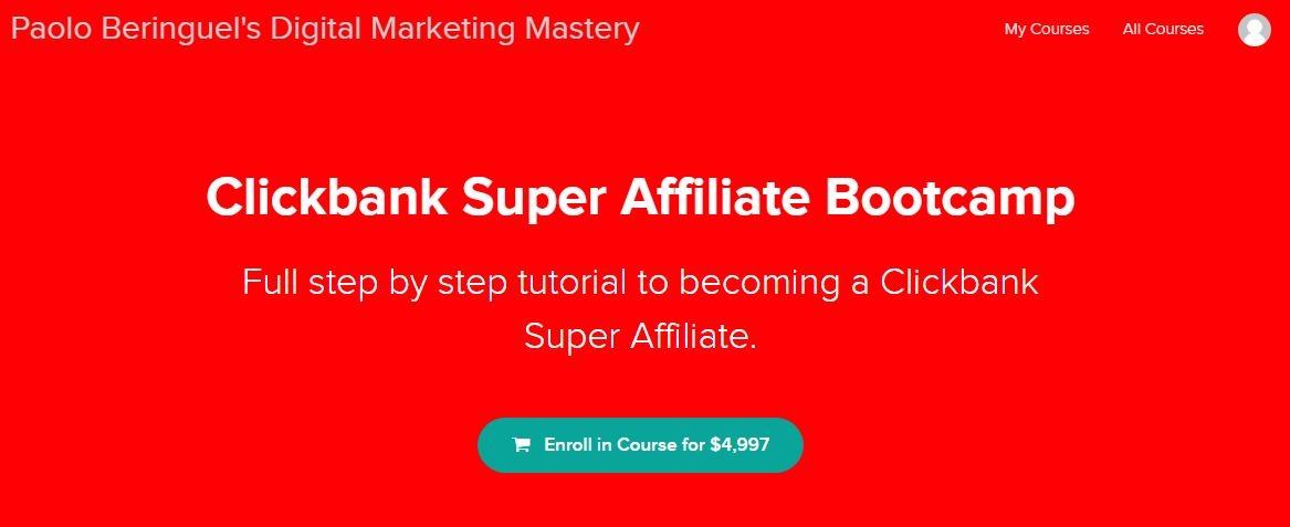 Clickbank Super Affiliate Bootcamp by Paolo Beringuel