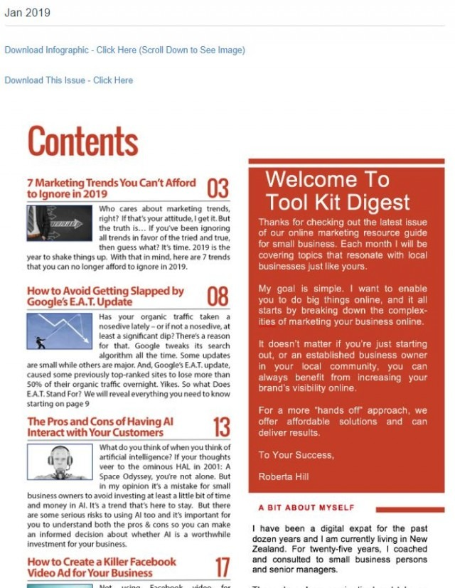 Tool Kit Digital Marketing Digest 2019 – Create Your Own Account