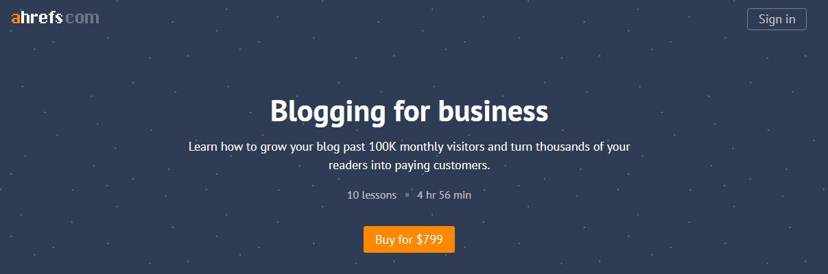 Ahrefs Academy – Blogging for Business Download