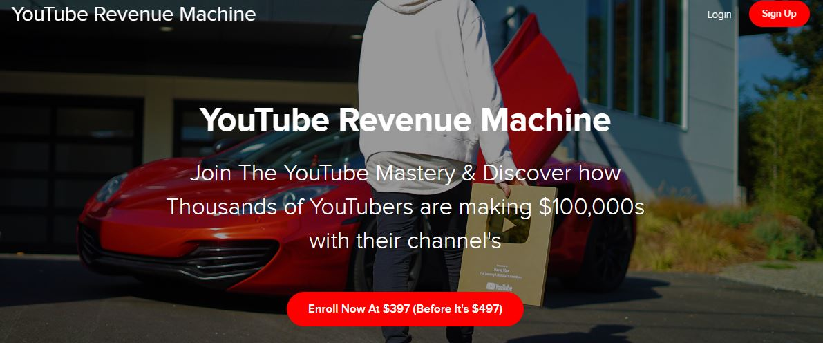 David Vlas - YouTube Revenue Machine Making 6 Figures A Year Download