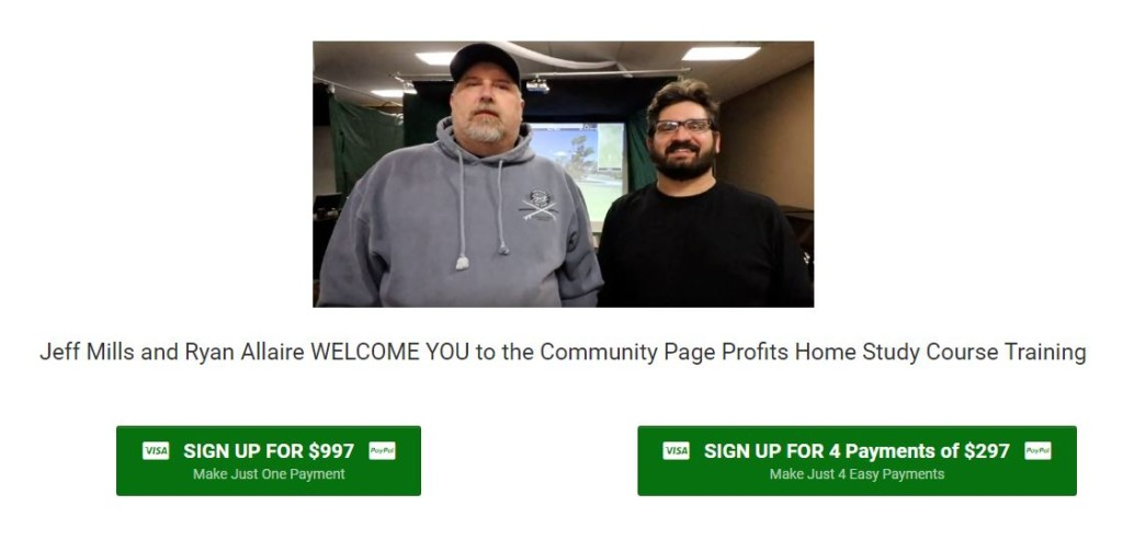 Jeff Mills and Ryan Allaire – Community Page Profits