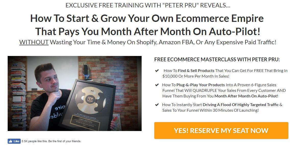 [SUPER HOT SHARE] Peter Pru – Six Figure Funnels – Ecommerce Empire Builders – $997