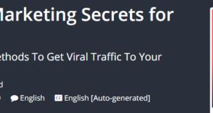 SEO Training - Dirty Marketing Secrets for Website Traffic Download