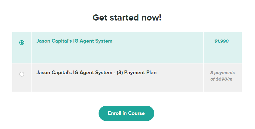 Jason Capital – Instagram Agent System Download