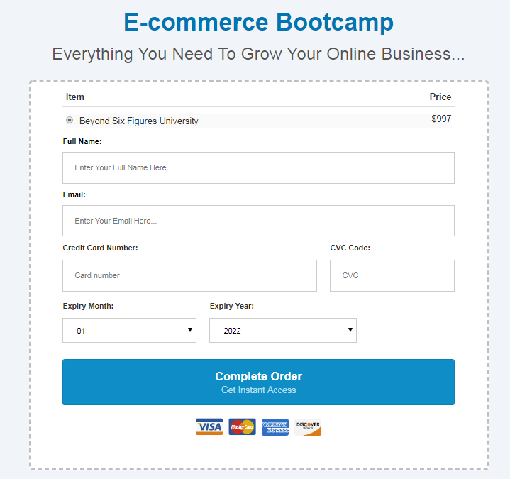 Justin Woll – BeyondSixFigures E-Commerce Profit University Download