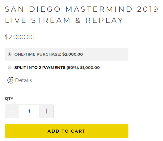 Tim Burd - San Diego Mastermind 2019 Live Stream & Replay Download