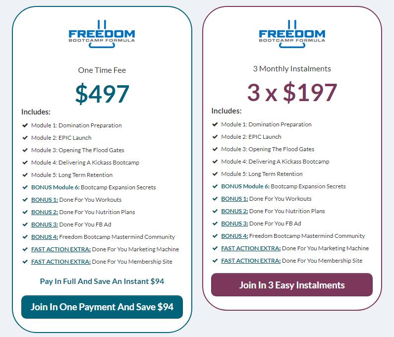 Tim Megginson - Freedom Bootcamp Formula Download