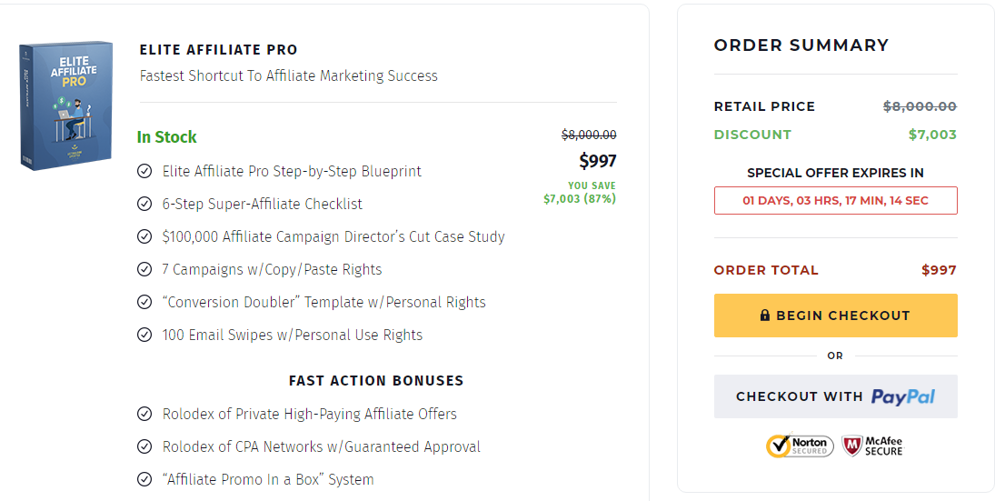 [SUPER HOT SHARE] Elite Affiliate Pro – $50k Per Week On Clickbank With Very Small Traffic Download
