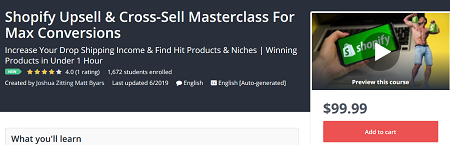 Shopify Upsell - Cross-Sell Masterclass For Max Conversions Download