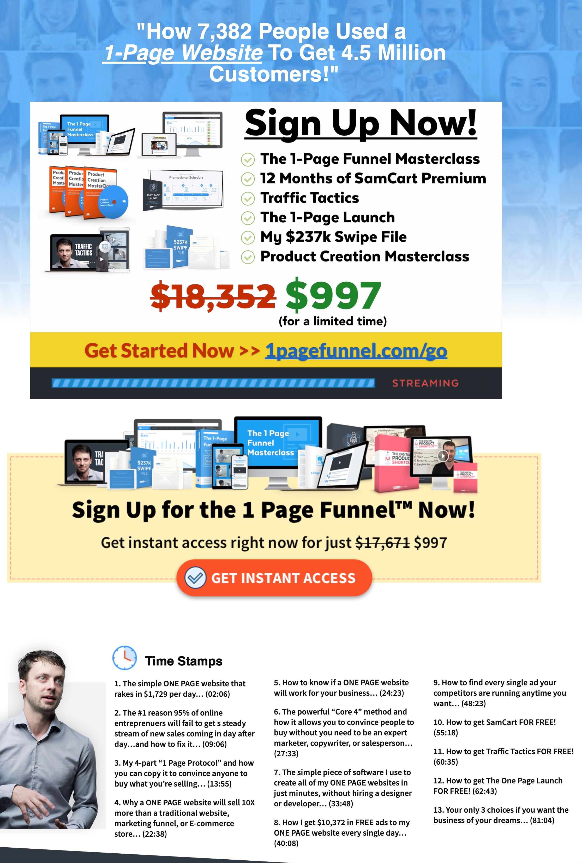 Brian Moran - 1-Page Funnel Master Class Download