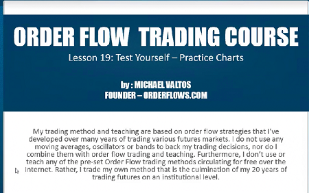 Michael Valtos - Order Flow Trading Course Download