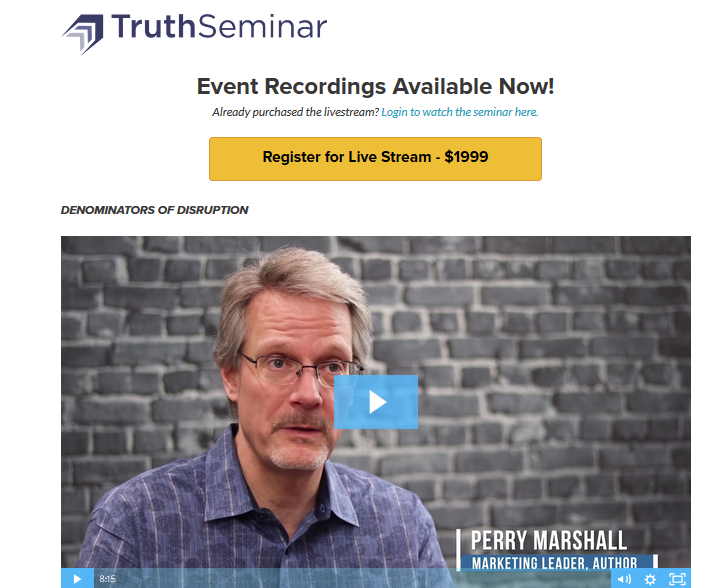 Perry Marshall - Truth Seminar Download