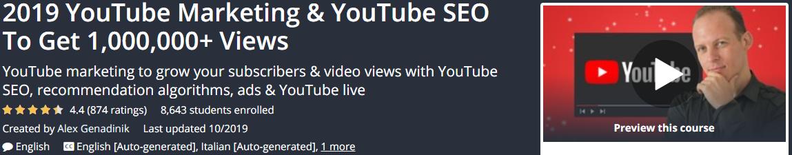 Alex Genadinik - 2019 YouTube Marketing and YouTube SEO Download