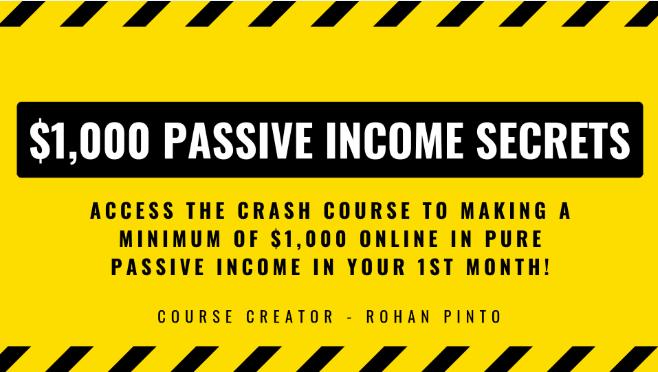 $1,000 Passive Income Crash Course Download