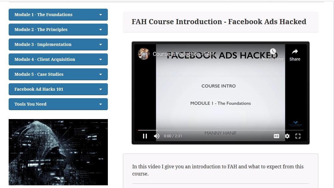 Manny Hanif - Facebook Ads Hacked Download