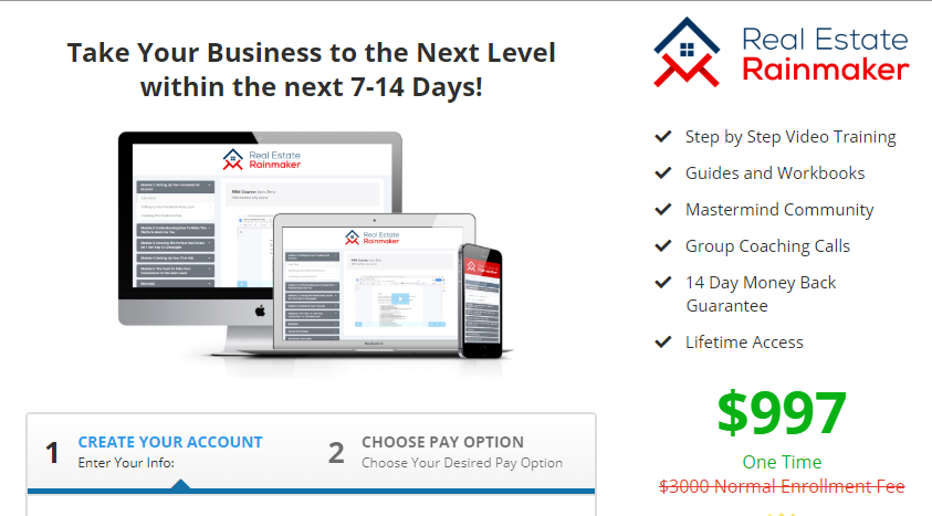 Real Estate Rainmaker 2020 - High Quality Leads Course Real Estate Download