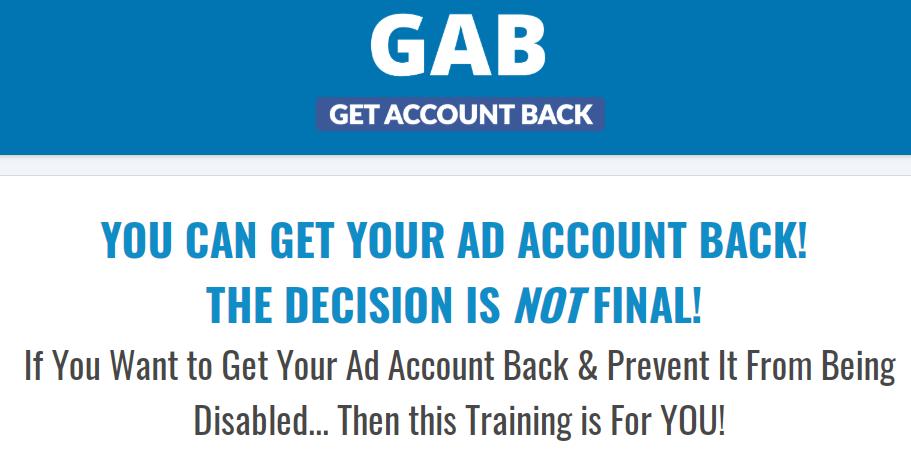 Dan Henry – Get Account Back Webinar GAB Download