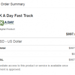1k A Day Fast Track Training Program Warranty Overseas