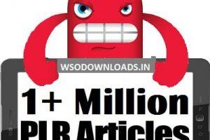 1+ Million PLR Articles V2 Monster Package! Download