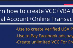 [BRAND NEW PREMIUM METHOD]- Create Unlimited VISA VCC+ VBA For Free Download