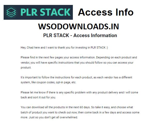 Huge List of PLR Download