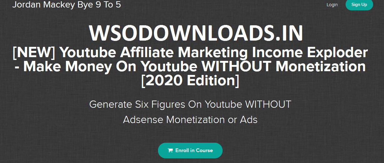 Jordan Mackey - [NEW] Youtube Affiliate Marketing Income Exploder [2020 Edition] Download