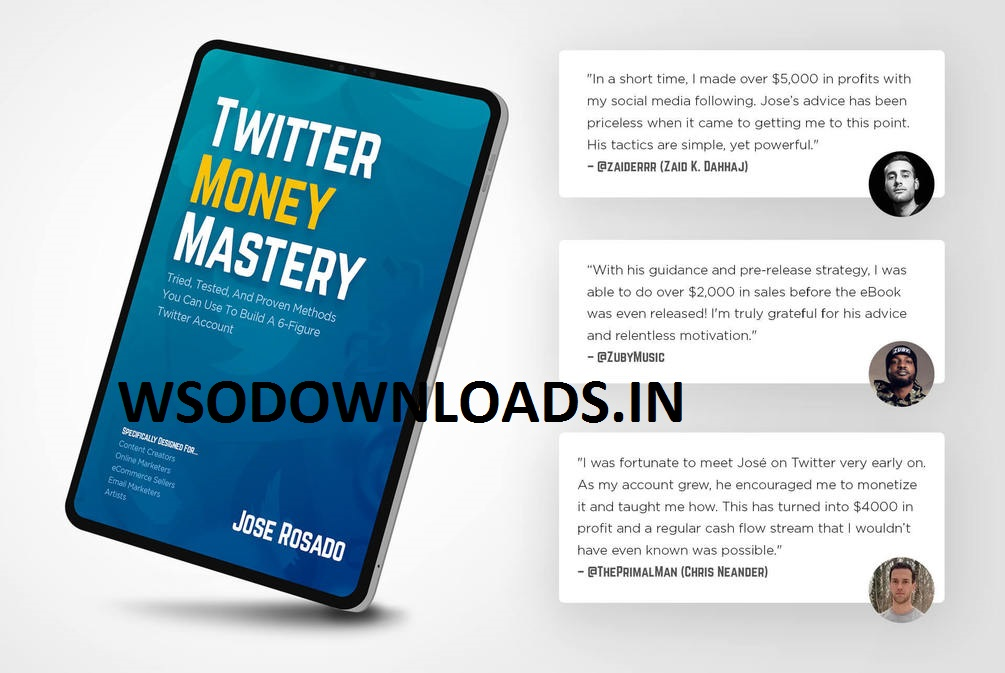 Jose Rosado - Twitter Money Mastery Download