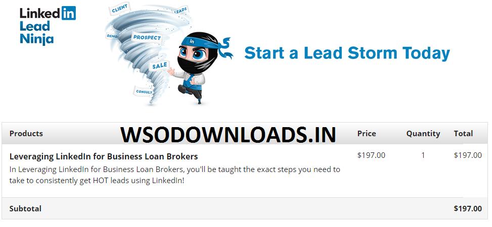 Linkedin Lead Ninja – Leveraging LinkedIn for Business Loan Brokers Download