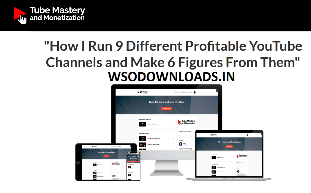 Tube Mastery and Monetization Download