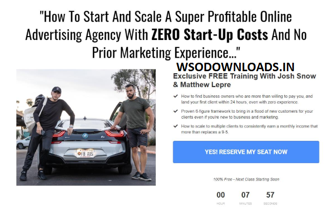 Josh Elizetxe - Agency Blueprint Download