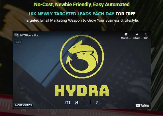 HYDRA Mailz - FE + BONUS Free Download