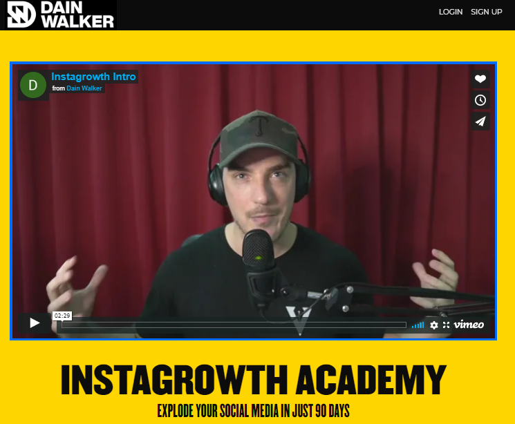 Dain Walker – Instagrowth Academy Download