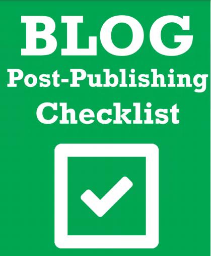 Blog Publishing Checklist Free Download