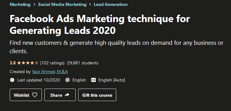 Facebook Ads Marketing Technique For Generating Leads 2020 Free Download