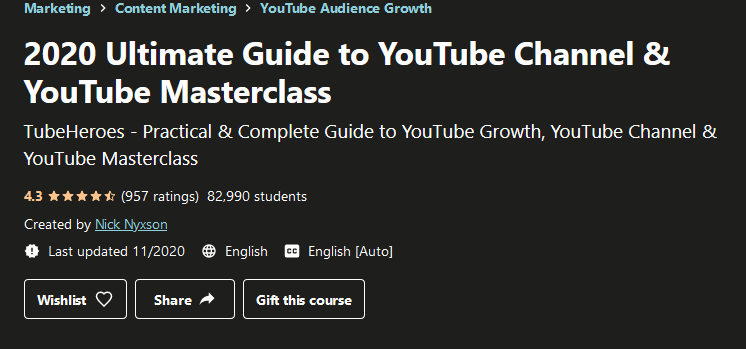 2020 Ultimate Guide to YouTube Channel & YouTube Masterclass Free Download