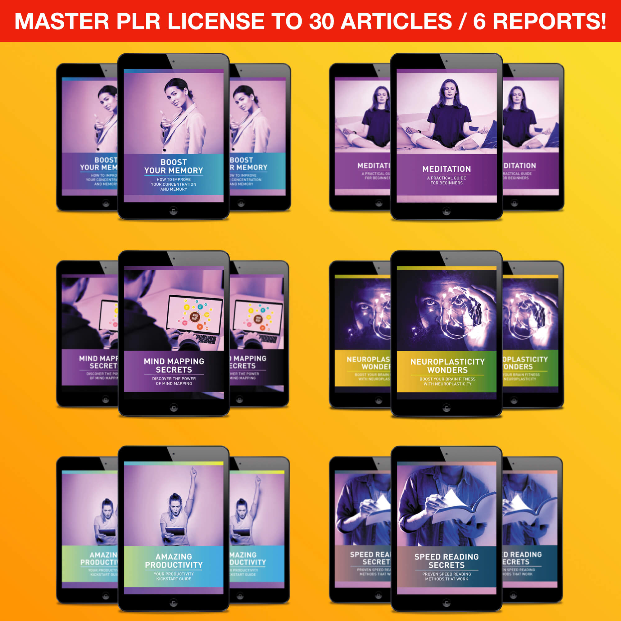 NEW Master PLR 30 Self Development Articles + 6 High Quality Reports Free Download