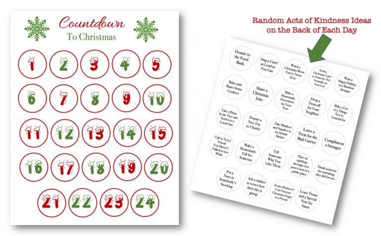 PLR Printable Christmas Advent Calendar + 2021 Calendar Free Download