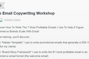 Danavir Sarria - Ecomm Email Workshop Download