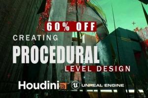Gumroad - Houdini Tutorial Procedural Level Design In UE4 Free Download