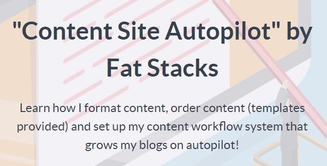 Jon Dykstra - Content Site Autopilot Download