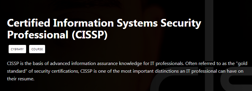 Certified Information Systems Security Professional (CISSP) Free Download