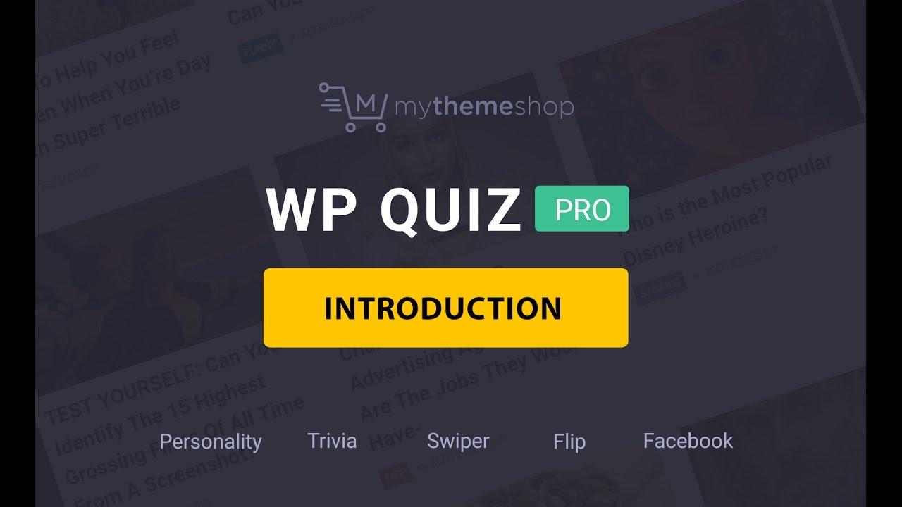 MyThemeShop WP Quiz Pro WordPress Plugin