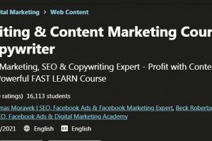 Copywriting & Content Marketing Course - Be a PRO Copywriter Free Download