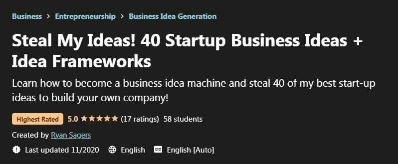 Steal My Ideas! 40 Startup Business Ideas + Idea Frameworks Free Download