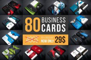 80 Business Cards Mega Bundle Free Download