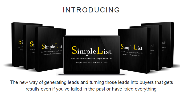 Simple List - Without Having  To Create Or Sell Anything