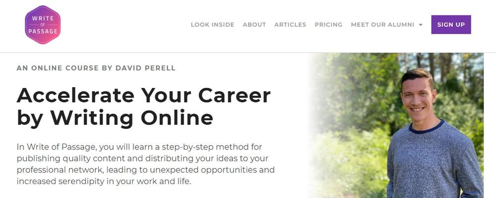 David Perell – Write of Passage Free Download