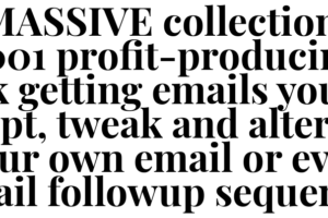5,001 Profit-Producing Emails Free Download