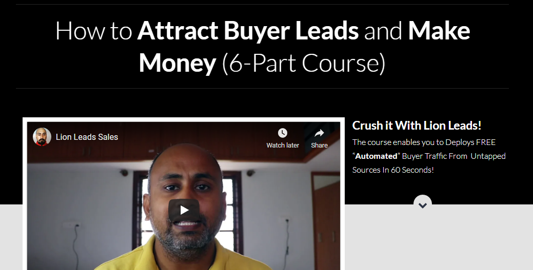 LION LEADS SALES - How to Attract Buyer Leads and Make Money - Launching 22 May 2021 Free Download