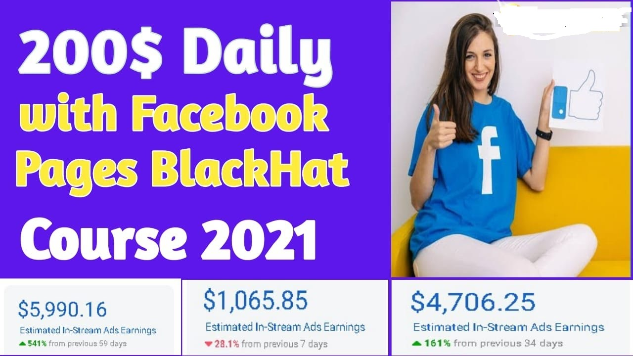 $200 per Day With Facebook Pages Black Hat Course 2021 - Video Course Step By Step Download